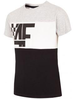 T-shirt chłopięcy (122-164) JTSM206 - szary melanż
