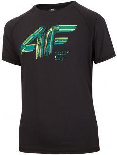 Koszulka sportowa chłopięca (122-164) JTSM400 - czarny