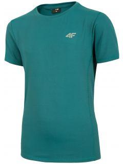 Koszulka sportowa chłopięca (122-164) JTSM403 - morska zieleń