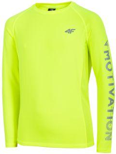 Longsleeve sportowy chłopięcy (122-164) JTSML400 - soczysta zieleń neon