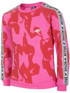 Bluza dla dużych dzieci (dziewcząt) JBLD215 - fuksja