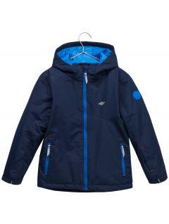 Kurtka narciarska dla małych dzieci (chłopców) JKUMN302 - granat