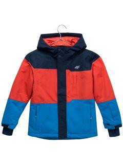 Kurtka narciarska dla małych dzieci (chłopców) JKUMN304 - granat