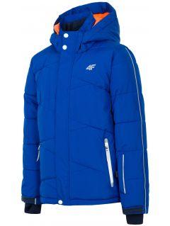 Kurtka narciarska dla dużych dzieci (chłopców) JKUMN400 - kobalt