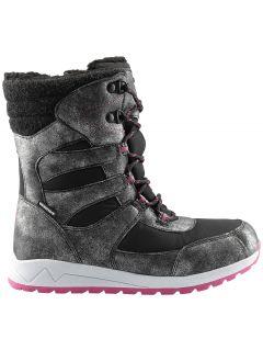 Buty zimowe dla dużych dzieci (dziewcząt) JOBDW404 - czarny