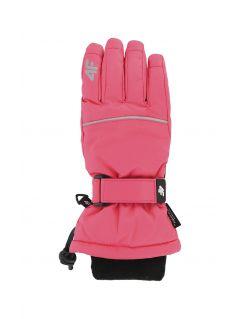 Rękawice narciarskie dla dużych dzieci (dziewcząt) JRED402 - fuksja