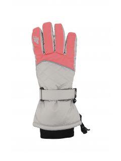 Rękawice narciarskie dla dużych dzieci (dziewcząt) JRED403 - koral neon