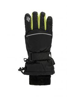 Rękawice narciarskie dla dużych dzieci (chłopców) JREM401 - czarny