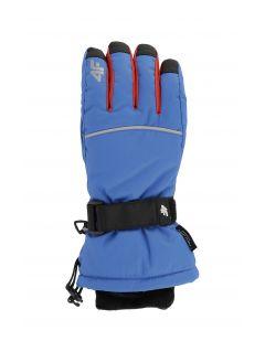 Rękawice narciarskie dla dużych dzieci (chłopców) JREM401 - kobalt