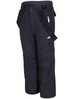 Spodnie narciarskie dla dużych dzieci (dziewcząt) JSPDN400 - głęboka czerń