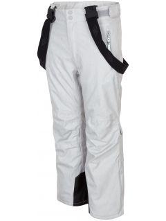 Spodnie narciarskie dla dużych dzieci (dziewcząt) JSPDN401A - szary melanż