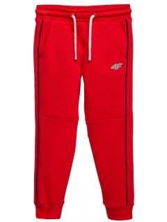 Spodnie dresowe dla małych dzieci (chłopców) JSPMD104 - czerwony