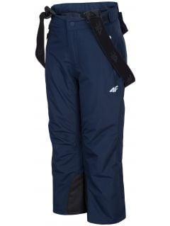 Spodnie narciarskie dla małych dzieci (chłopców) JSPMN300 - granat