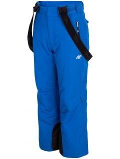 Spodnie narciarskie dla dużych dzieci (chłopców) JSPMN400 - kobalt