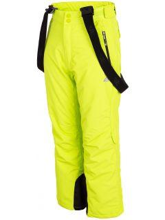 Spodnie narciarskie dla dużych dzieci (chłopców) JSPMN400 - soczysta zieleń