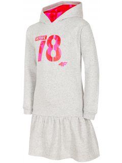 Sukienka dla dużych dzieci (dziewcząt) JSUDD208 - chłodny jasny szary