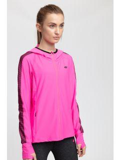 Bluza treningowa damska BLDF200 - różowy neon