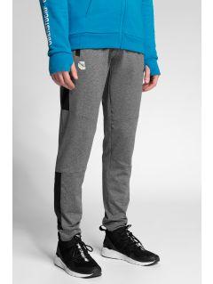 Spodnie funkcyjne męskie 4Hills SPMTR200 - średni szary melanż
