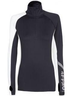 Bluza funkcyjna damska 4FPro Skirunning BLDF401 - czarny