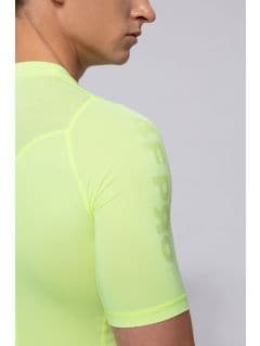 Koszulka baselayer męska 4FPro TSMF400 - żółty neon