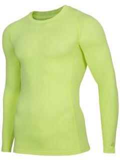 Longsleeve baselayer męski 4FPro TSMLF402 - żółty neon