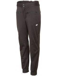 Spodnie trekkingowe damskie SPDT201 - GŁĘBOKA CZERŃ