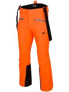 Spodnie narciarskie męskie SPMN151 - pomarańcz neon