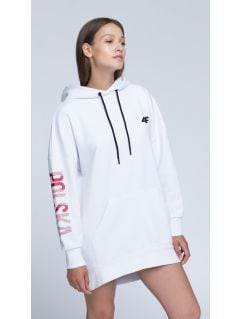 Bluza kibica damska BLD500 - biały