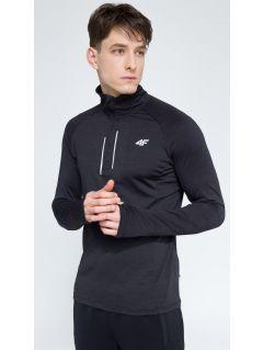 Bluza treningowa męska BLMF002 - ciemny szary melanż