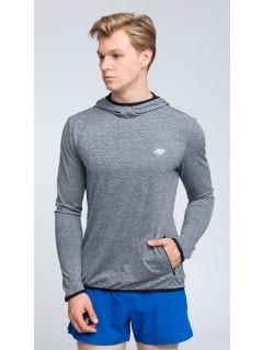 Bluza treningowa męska BLMF003 - ciepły jasny szary