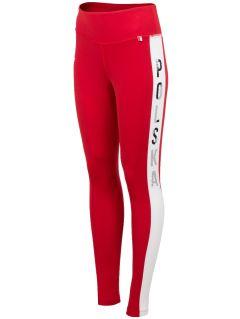 Legginsy kibica damskie LEG500 - czerwony