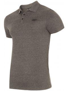 Koszulka polo męska TSM301 - ciemny szary melanż