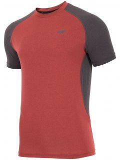 Koszulka treningowa męska TSMF205 - czerwony melanż