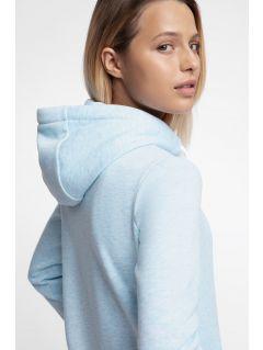 Bluza damska BLD301 - jasny niebieski melanż