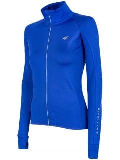 Bluza do biegania damska BLDF150 - kobalt