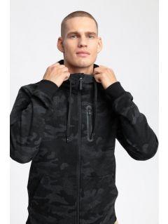 Bluza męska BLM202 - głęboka czerń allover