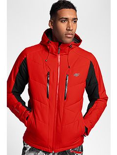 Kurtka narciarska męska KUMN256 - czerwony