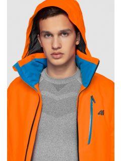 Kurtka narciarska męska KUMN257 - pomarańcz neon