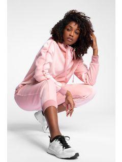Spodnie dresowe damskie SPDD223 - jasny róż