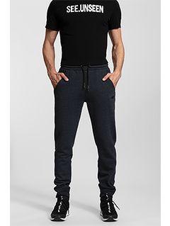 Spodnie dresowe męskie SPMD300 - denim melanż