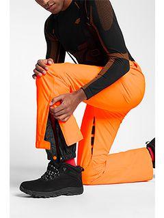 Spodnie narciarskie męskie SPMN250 - pomarańcz neon