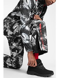 Spodnie narciarskie męskie SPMN251A - multikolor allover