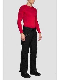 Spodnie narciarskie męskie SPMN552R - głęboka czerń