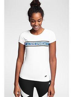 Koszulka treningowa damska TSDF152 - biały