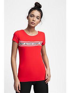 Koszulka treningowa damska TSDF152 - czerwony