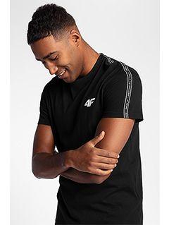 T-shirt męski TSM211 - głęboka czerń
