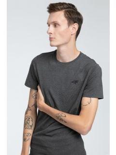 T-shirt męski TSM023 - ciemny szary melanż