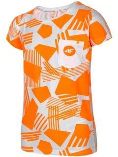 T-shirt dla dużych dzieci (dziewcząt) JTSD207A - pomarańcz neon