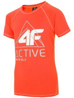Koszulka sportowa dla dużych dzieci (chłopców) JTSM405 - pomarańcz neon