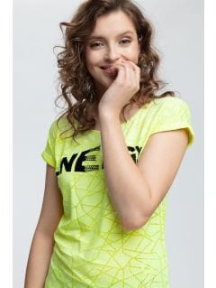T-shirt damski TSD019 - jasna zieleń neon